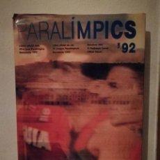 Coleccionismo deportivo: LIBRO OFICIAL - PARALIMPIC 92 - OLIMPIADAS - JOCS PARALIMPICS DE BARCELONA 1992. Lote 260781965