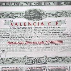Coleccionismo deportivo: ANTIGUA ACCION FUTBOL VALENCA CLUB DE FUTBOL 1955 CON CUPONES ORIGINAL. Lote 262238035