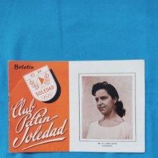 Coleccionismo deportivo: BOLETÍN CLUB PATÍN SOLEDAD PALMA - 1961. Lote 262241585
