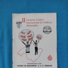 Coleccionismo deportivo: II CINTURÓN CICLISTA INTERNACIONAL DE MALLORCA AFICIONADOS - 1965. Lote 262241845