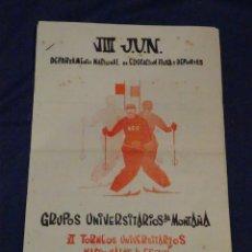 Coleccionismo deportivo: (M2) VI TORNEOS UNIVERSITARIOS NACIONALES DE ESQUI, PUERTO DE NAVACERRADA 1960 - SEU. Lote 262520310
