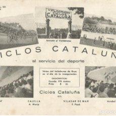 Coleccionismo deportivo: CICLOS CATALUÑA VISTAS DEL VELODROMO DE REUS PUBLICIDAD ORIGINAL AÑO 1945. Lote 262711790