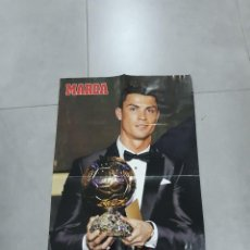Coleccionismo deportivo: PÓSTER. REAL MADRID, CRISTIANO RONALDO CR7, BALÓN DE ORO, 2013, MARCA. Lote 265660099