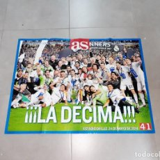 Coleccionismo deportivo: PÓSTER. REAL MADRID, CHAMPIONS LEAGUE, 2014, AS. Lote 265660144
