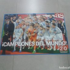 Coleccionismo deportivo: PÓSTER. REAL MADRID, COPA INTERCONTINENTAL, 2014, AS. Lote 265770499