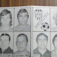 Coleccionismo deportivo: DÍPTICO PLANTILLA VALENCIA CF TEMPORADA 1974-75. Lote 266589278