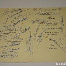Coleccionismo deportivo: MENU PRESENTACION OFICIAL DEL EQUIPO CICLISTA FAGOR CON SIGNATURAS AUTOGRAFAS ORIGINALES. Lote 266865709