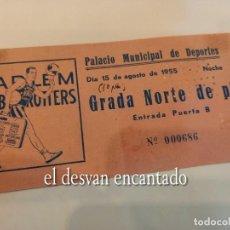 Coleccionismo deportivo: HARLEM GLOBETROTTERS. ENTRADA ORIGINAL 1955 BARCELONA. Lote 267337679