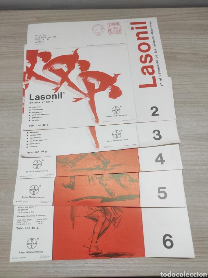 5 LÁMINAS LESIONES DEPORTIVAS Y SU TRATAMIENTO. NOTAS DE MEDICINA DEPORTIVA. LASONIL. 2,3,4,5,6 (Coleccionismo Deportivo - Documentos de Deportes - Otros)