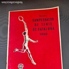 Coleccionismo deportivo: TENIS CLUB DE TENIS LA SALUD CAMPEONATOS DE CATALUÑA 1950. Lote 268162944