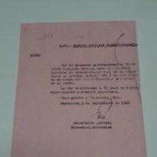 Coleccionismo deportivo: CARTA ORIGINAL PARTIDO AMISTOSO RCD ESPAÑOL - CASTELLON, ASIGNACION ARBRITRO PARA EL ENCUENTRO 1948. Lote 268602679