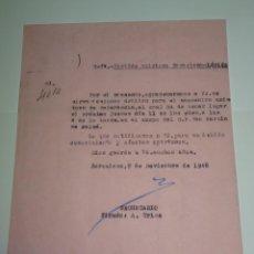 Coleccionismo deportivo: CARTA ORIGINAL PARTIDO AMISTOSO FC BARCELONA - LÉRIDA - CAMPO CF SAN MARTÍN DE MALDÁ 11 NOV 1948. Lote 268604184