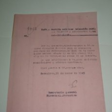 Coleccionismo deportivo: FUTBOL CARTA ORIGINAL PARTIDO AMISTOSO FC BARCELONA - BRADBURN FC 12 MARZO 1949. Lote 268607564