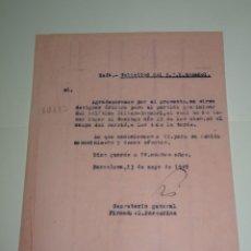 Coleccionismo deportivo: FUTBOL CARTA ORIGINAL RCD ESPAÑOL - ATH DE BILBAO 15 MAYO 1949, ASIGNACION DEL ARBITRO. Lote 268608229