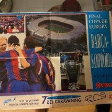 Coleccionismo deportivo: BARCELONA SAMPDORIA WEMBLEY 1992. Lote 268882129