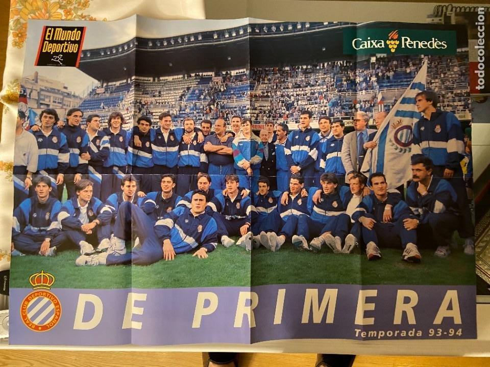 ESPAÑOL POSTER MUNDO DEPORTIVO DE PRIMERA TEMPORADA 93 94 (Coleccionismo Deportivo - Documentos de Deportes - Otros)