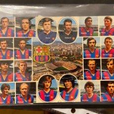 Collectionnisme sportif: PRECIOSA POSTAL DEL BARCELONA CON CRUYFF 1972 FIRMADA POR 10 JUGADORES. Lote 268883319