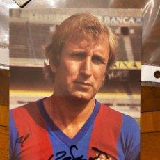Coleccionismo deportivo: CARLOS REXACH POSTAL PROPAGANDA TELEFUNKEN CON AUTOGRAFO ORIGINAL. Lote 268884429