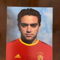 Coleccionismo deportivo: SELECCION ESPAÑOLA REAL FEDERACION ESPAÑOLA D FUTBOL 4 POSTALES CON SUS AUTOGRAFOS XAVI-SERGI-PUYOL. Lote 269124708