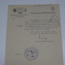 Collectionnisme sportif: FÚTBOL CARTA ORIGINAL - PARTIDO TARRAGONA - GIJÓN - CLUB GIMNASTICO DE TARRAGONA AÑO 1947. Lote 269689963