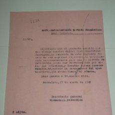Collectionnisme sportif: FÚTBOL CARTA ORIGINAL - RETRASMISION GIMNASTICO DE TARRAGONA - R SOCIEDAD AÑO 1948. Lote 269692888