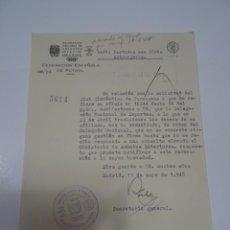 Collectionnisme sportif: FÚTBOL CARTA ORIGINAL - GIMNASTICO DE TARRAGONA - SOLICITUD PARTIDOS CON EXTRANJEROS 1948. Lote 269804728