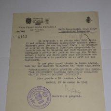 Coleccionismo deportivo: CARTA INCAUTACIÓN TAQUILLAJE GIMNASTICO DE TARRAGONA PARA EL PROXIMO DOMINGO 1949. Lote 271125813
