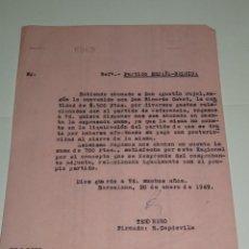 Coleccionismo deportivo: CARTA PARTIDO ESPAÑA - BELGICA, ABONADO 8.500 PTAS AL JUGADOR AGUSTIN PUJOL Y RICARDO CABOT. Lote 271126583