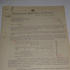 Coleccionismo deportivo: CARTA FEDERACION ESPAÑOLA DE FUTBOL PARA LOS PARTIDOS ESPAÑA - PORTUGAL Y ESPAÑA ITALIA 1949. Lote 271127848