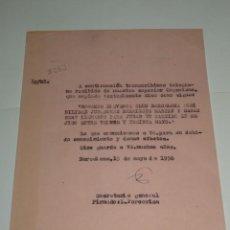 Coleccionismo deportivo: CARTA NOTIFICACION AL FC BARCELONA PARA QUE LOS JUGADORES RAMALLETS Y CESAR MARTIN CON ESPAÑA. Lote 271131888