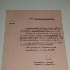 Coleccionismo deportivo: CARTA NOTIFICACION AL FC BARCELONA, CONVOCATORIA ESPAÑA MARIANO, J GONZAOLVO, CESAR Y RAMALLETS. Lote 271133103
