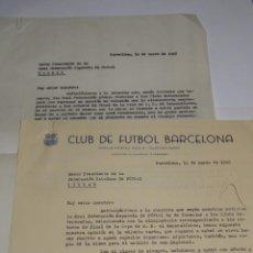 Coleccionismo deportivo: CARTA FC BARCELONA ELIMINATORIA S-E- EL GENERALISIMO 1949, NOTIFICACION QUE SERA A DOBLE PARTIDO. Lote 271134653