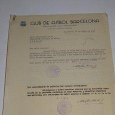 Coleccionismo deportivo: CARTA FC BARCELONA 1949 - NOTIFICACION PARTIDO FC BARCELONA - CLUB ELFSBORG SUECIA, FIRMA MONTAL. Lote 271136063