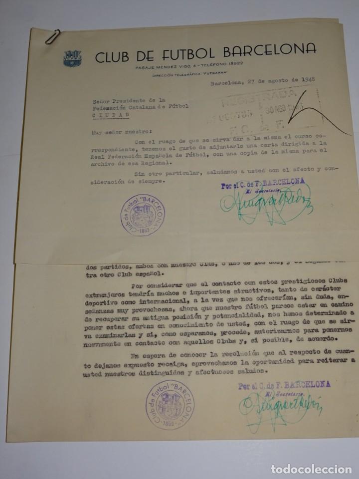 CARTAS FC BARCELONA OFERTAS PARA PARTIDOS INTERNACIONALES TORINO FC, CLUB FIRST VIENA MANCHESTER (Coleccionismo Deportivo - Documentos de Deportes - Otros)