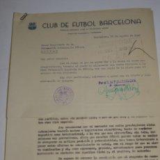Coleccionismo deportivo: CARTAS FC BARCELONA OFERTAS PARA PARTIDOS INTERNACIONALES TORINO FC, CLUB FIRST VIENA MANCHESTER. Lote 271139423
