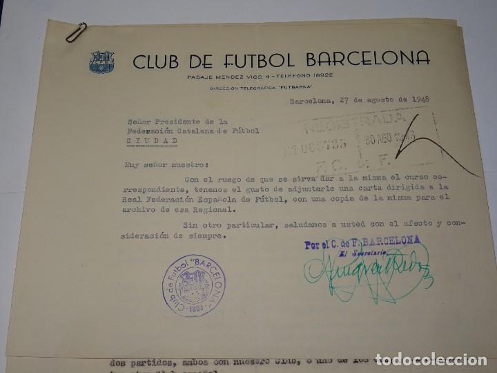 Coleccionismo deportivo: CARTAS FC BARCELONA OFERTAS PARA PARTIDOS INTERNACIONALES TORINO FC, CLUB FIRST VIENA MANCHESTER - Foto 2 - 271139423