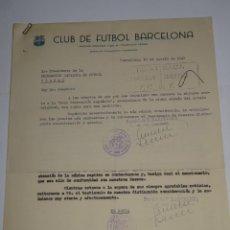 Coleccionismo deportivo: CARTAS FC BARCELONA INAUGURACION TEMPORADA CONTRA SPORTIN DE PORTUGAL, ATLETICO, AÑO 1948. Lote 271139943