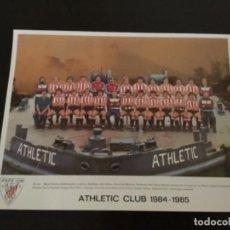 Coleccionismo deportivo: TARJETON PLANTILLA ATHLETIC CLUB DE BILBAO OFICIAL TEMPORADA 1984 1985 27,5 X 21 CM PERFECTO ESTADO. Lote 272024078