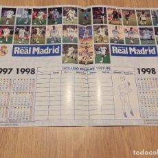 Coleccionismo deportivo: POSTER REVISTA REAL MADRID 1997 1998 97 98 ESCOLAR. Lote 274525218