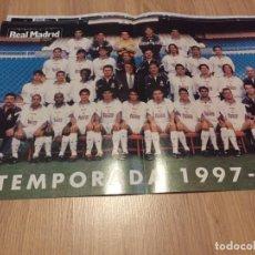 Coleccionismo deportivo: POSTER REVISTA REAL MADRID 1997 1998 97 98 PLANTILLA. Lote 274525233