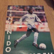 Coleccionismo deportivo: POSTER REVISTA REAL MADRID 1997 1998 97 98 KAREMBEU BIENVENIDO. Lote 274525253
