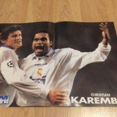 Coleccionismo deportivo: POSTER REVISTA REAL MADRID 1997 1998 97 98 KAREMBEU. Lote 274525268