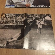 Coleccionismo deportivo: POSTER REVISTA REAL MADRID MIGUEL ANGEL. Lote 274525478