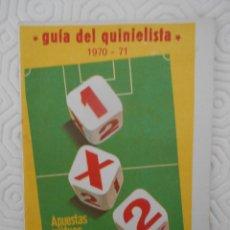 Coleccionismo deportivo: GUIA DEL QUINIELISTA. 1970- 71. Lote 274596598