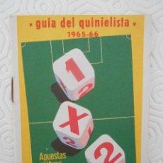 Coleccionismo deportivo: GUIA DEL QUINIELISTA. 1965 - 66.. Lote 274596963