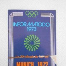Coleccionismo deportivo: MUNICH 1972. LA XX OLIMPIADA. INFORMATODO 1973. SELECCIONES DE READER'S DIGEST. 16 PAGINAS.. Lote 274598368