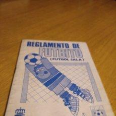 Coleccionismo deportivo: REGLAMENTO DE FUTBITO (FÚTBOL SALA) COCA COLA 1981. Lote 275339628