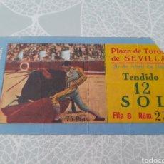 Collectionnisme sportif: ENTRADA PRAZA DE TORO DE SEVILLA - 20 ABRIL 1963.. Lote 275517513