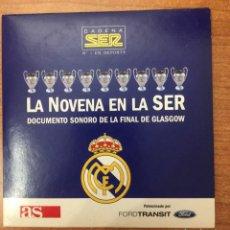 Coleccionismo deportivo: LA NOVENA COPA DE EUROPA DEL REAL MADRID. DOCUMENTO SONORO. Lote 275856513