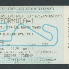 Colecionismo desportivo: ENTRADA CIRCUIT CATALUNYA FORMULA 1 AÑO 1995 GRAN PREMIO MARLBORO. Lote 276585758